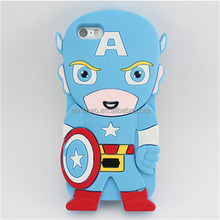 Hot Sell Soft Silicone 3D sergeant Cartoon machine Phone Case Cover for iphone6 plusCases Covers
