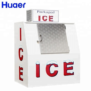 wholesale outdoor slant door bagged ice storage merchandiser