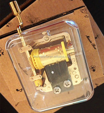 hand crank Music box Gold plated tune over the rainbow