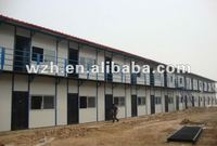 pre-engineering prefabricated house made by steel section plus sandwich panel