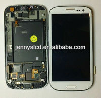 Mobile lcd for samsung galaxy S3 i9300 touch digitizer white