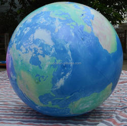 Best selling giant inflatable earth globe balloon, inflating helium planet ball for decorations H4197