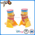 children plastic mini game funny cartoon yellow bear wind up toys for kids