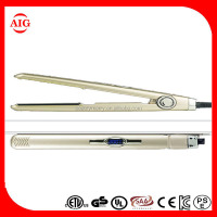 2016 custom ISO factory hair straightener CE US touch screen iron on silk screen