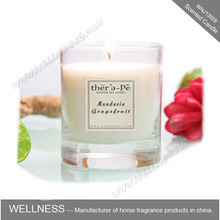 fashion home flower fragrance scented candle in glass cap