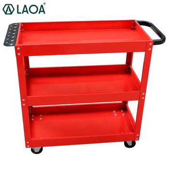 LAOA 3 layer cheap outdoor tool trolley cart