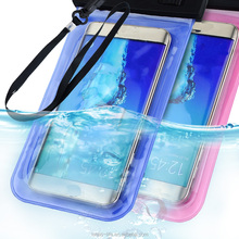 Noctilucent PVC Waterproof Diving Bag For Mobile Phones Underwater Pouch Case