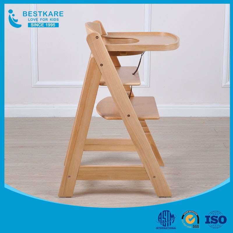 European wooden baby High Chair infant feeding chair