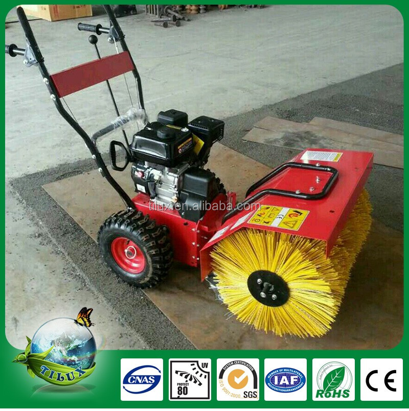Cleaning Plastic Sport Court Artificial Grass Machine Power Broom Sweeper