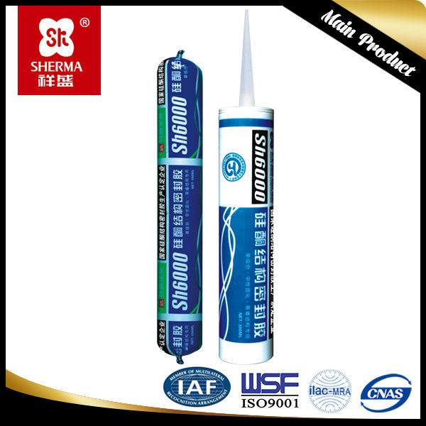 sealant silicone roof for adhesion of plastic, glass, metal and concrete