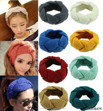 Fashion Women New Winter Warm <strong>Hair</strong> <strong>Accessories</strong> Trendy Headwrap <strong>Hair</strong> Band Crochet Twist Hairband Knitted Headband