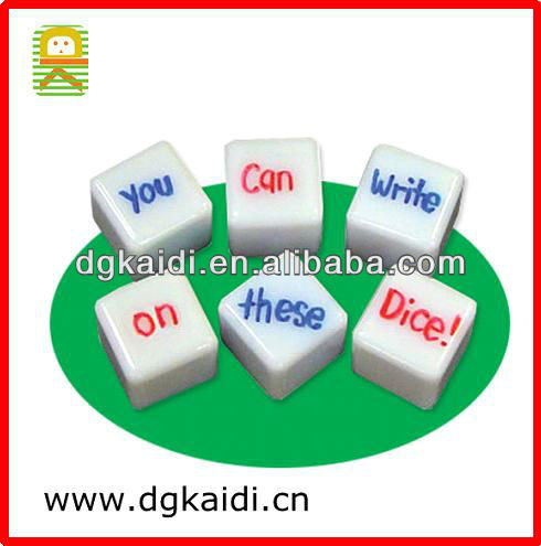 Educational Blank Dice 2013 Toy for kids
