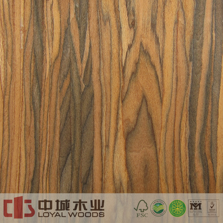 China supplier super quality engineered santos rosewood timber recon face veneer