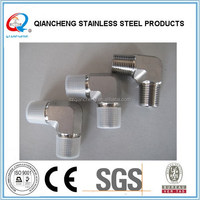 stainless steel 90 ELBOW NPT MALE/NPSM FEMALE 60 CONE HYDRAULIC HOSE FITTING