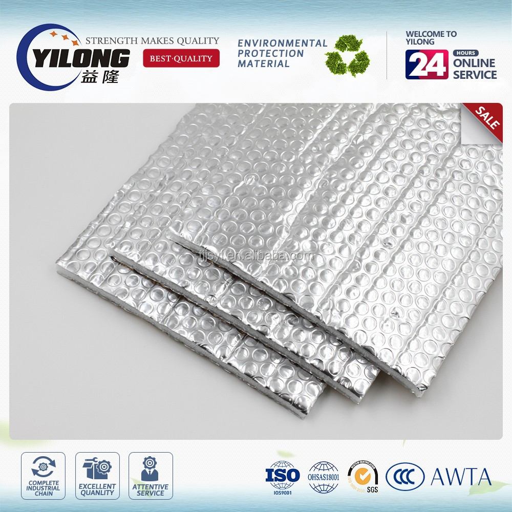 Deformation resistant moistureproof aircell building insulation high adhesion strength