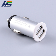 5v2.1a car charge custom metal usb fast car charger 2 port dual usb car charger
