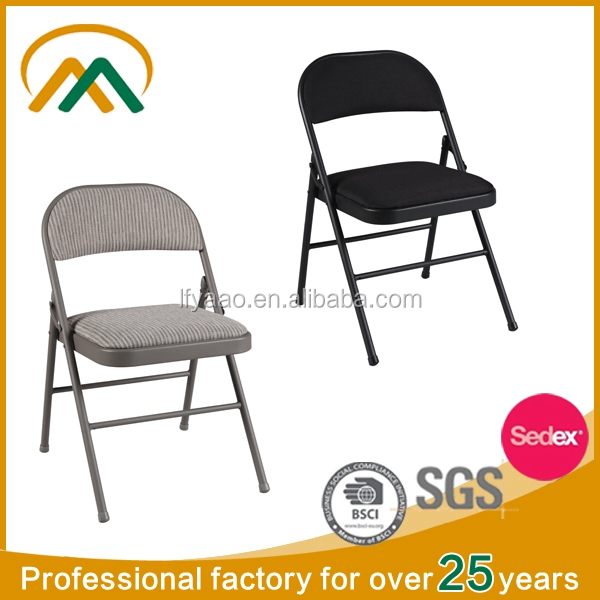 Wholesale black padded metal folding <strong>chairs</strong> KP-C1311