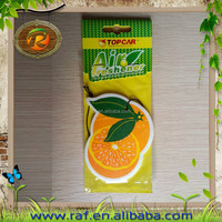 wholesale shoe feu orange eco-friendly car air freshener cartoon promotional Logo printed Hanging paper car air freshener