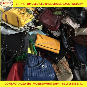 56f528257e02 Africa buyers looking second hand bags warehouse China women big bags  leather handbags for men children