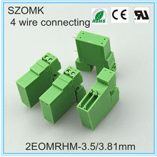 2 Position Pluggable Terminal Block Plastic 3.5mm Wire Connector Combinations