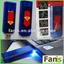 Hot sales cheap plastic USB superman lighters