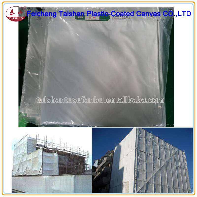 heavy duty 3.6mX5.4m fireproof waterproof protective pvc laminated fabric used fabric buildings export Japan