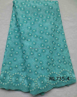 Heavy african lace fabric/swiss voile lace / africa cotton lace ML735-4