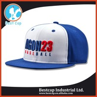 blue and white Customized Snapback Cap made in China