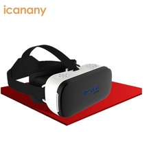 Low price 360 panoramic 3d glasses vr case RK-A2 vr headset, htc vive virtual reality helmet 1080P all in one for sale