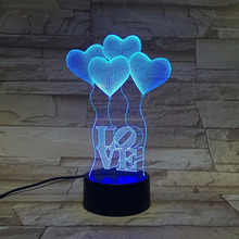 New design 5 color changing Nightlight personalized gift decorated Corps bluetooth spearker 3D Vision Lamps Strange new light