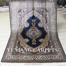 4.5x6.5 feet hand knotted 100% silk iranian silk carpet