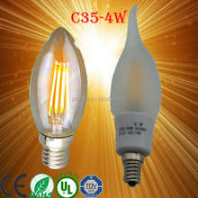 E14 Socket C35 2W LED Filament Pointed Candle Shape Lamp Light Bulbs, led filament bulb