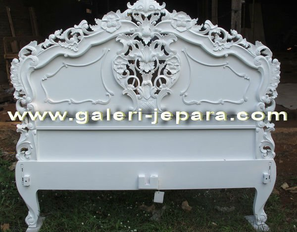 Antique Reproduction Rococo Headboard - MDF and Wooden Bedroom Sets
