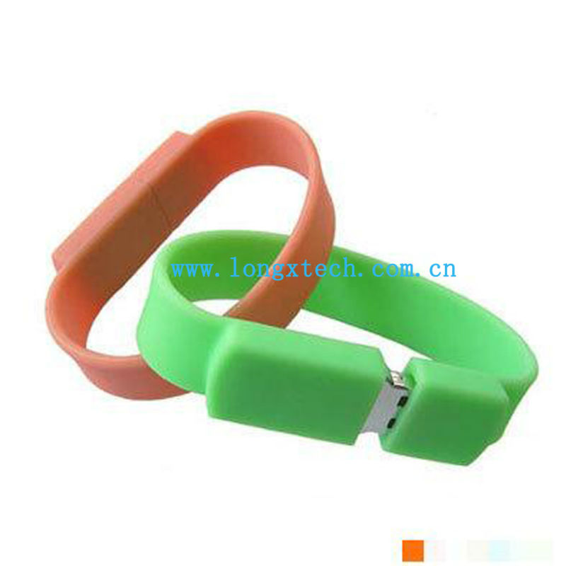 Hand Band USB Flash Drive,Silicone Bracelet USB Flash Drive