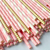 Pink Straws/Gold Straws for Party Supplies, Birthday, Wedding, Bridal/Baby Shower Decorations and Holiday Celebrations