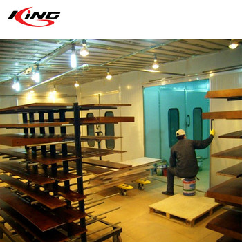 water curtain furniture spray painting drying booth for sale