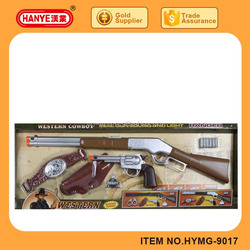 HYMG-9014 Western cowboy revolver sound and light simulation gun set toy for kids