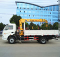 2t to 3t brand new 4x2 light duty telescopic mini crane truck for sale