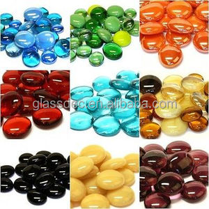 high quality flat glass marbles,glass gems