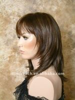 Hot selling Top quality 12'' silky straight Brazilian hair lace front wig