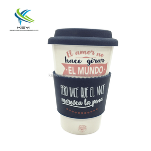 Promotional custom logo ceramic coffee travel mugs