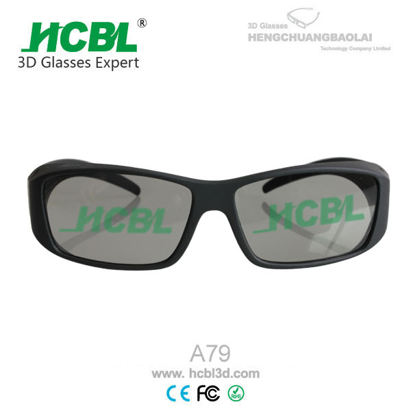 Reusable anti-scratches filter lens passive 3d glasses