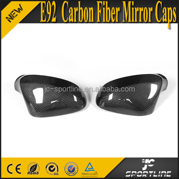 E92 Carbon Fiber Auto Mirror Cover Caps for BMW E92 2010 UP