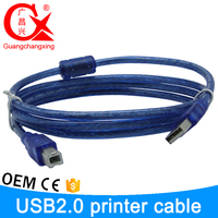 World best selling products 3 meter blue color micro usb printer cable with maget ring