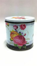 Middle Round Cookie Cake Cheesecake Flower Seeds Tin Box