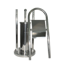 Stainless Steel Towel Rack with Tolet Brush Holder