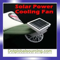 Wholesale Mini Solar Power Energy Panel Clip On Cooling Fan For Hat & Car