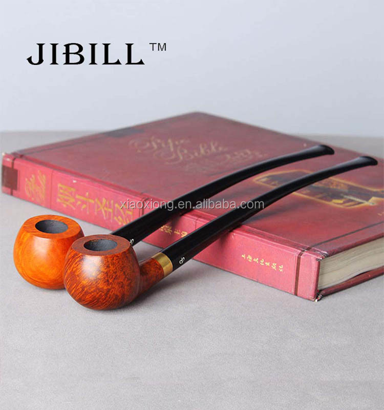 Engraved Long Wood Tobacco Pipe aa0088 JIBILL CHINA MAKER
