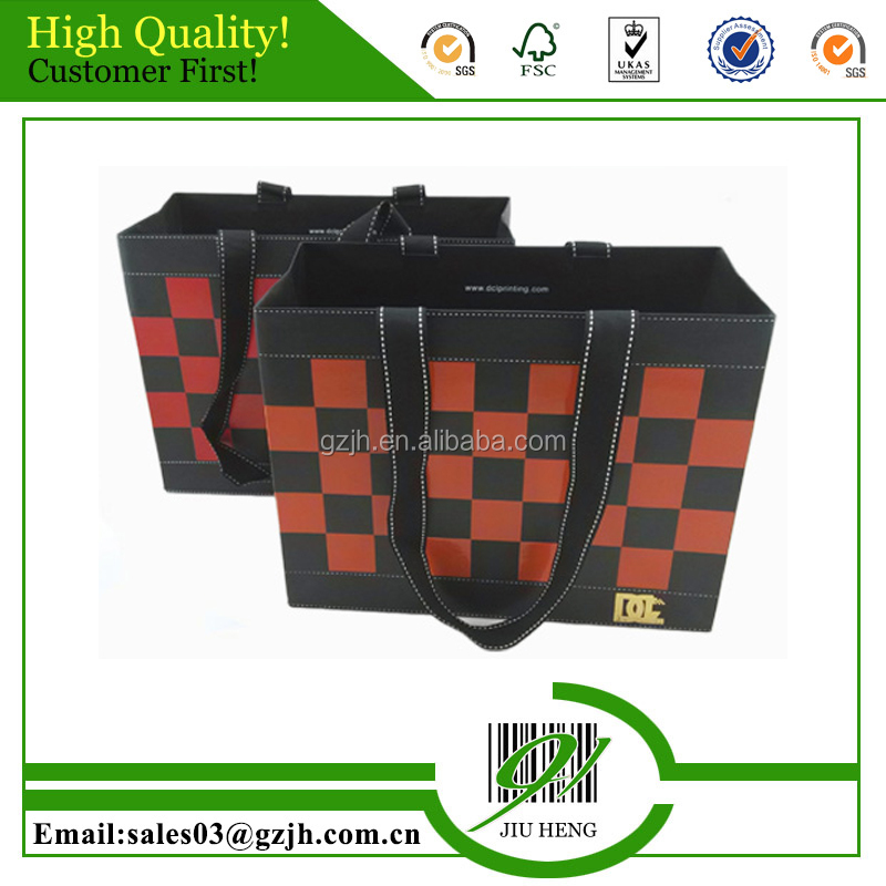2016 hot sale promotional handmade printed gift paper bag