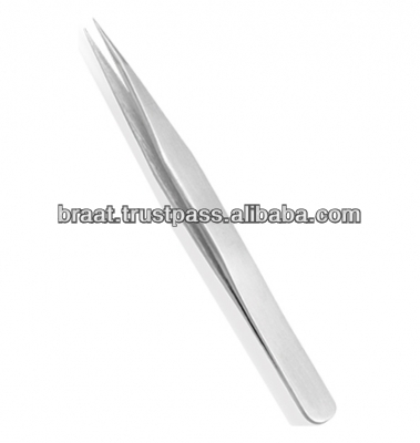 whole sale eye lash extension straight fine point tweezers, eyebrow tweezer, anti static tweezers, anti magnet tweezers